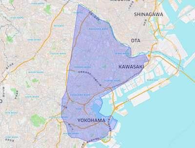 横浜の配達エリア